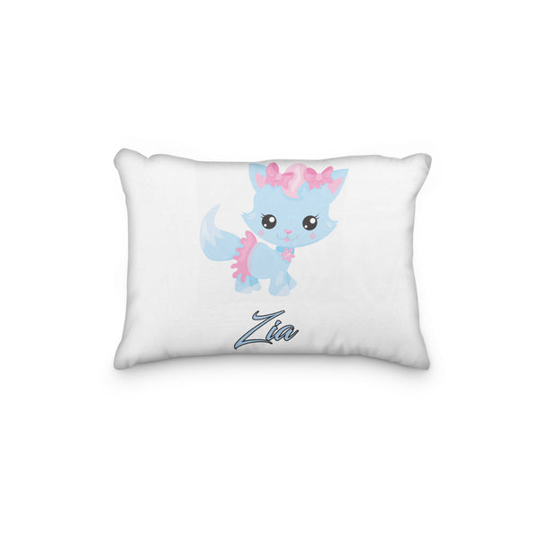 Cat Kitty White Tutu Sitting Personalized Pillowcase - Incandescently
