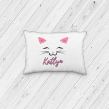 Load image into Gallery viewer, Cat Face Personalized Pillowcase