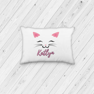 Cat Face Personalized Pillowcase