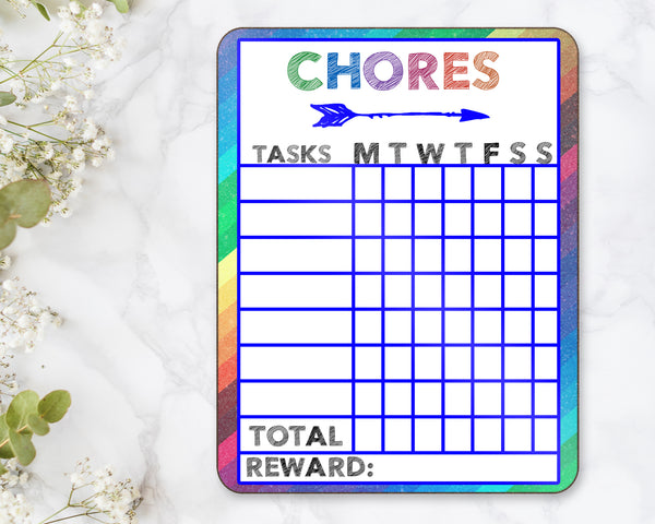 Chore Chart Dry Erase Board - Incandescently