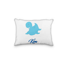 Load image into Gallery viewer, Dinosaur Blue Sea Personalized Pillowcase - incandescently