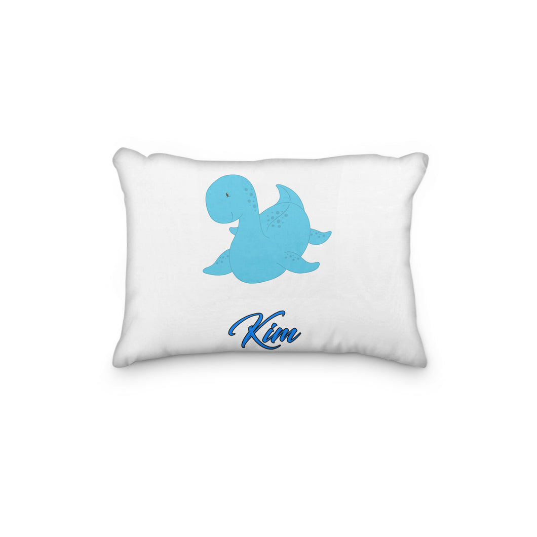 Dinosaur Blue Sea Personalized Pillowcase - incandescently