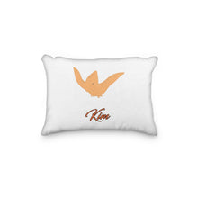 Load image into Gallery viewer, Dinosaur Pterodactyl Orange Personalized Pillowcase - incandescently