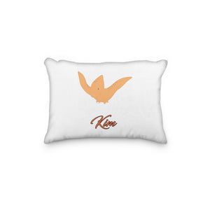 Dinosaur Pterodactyl Orange Personalized Pillowcase - incandescently