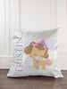Dog Princess Glitter Sparkle Throw Pillow Cover