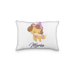 Dog Princess Brown Personalized Pillowcase - Incandescently - Glitter Sparkle Throw Pillows - Farmhouse Decor