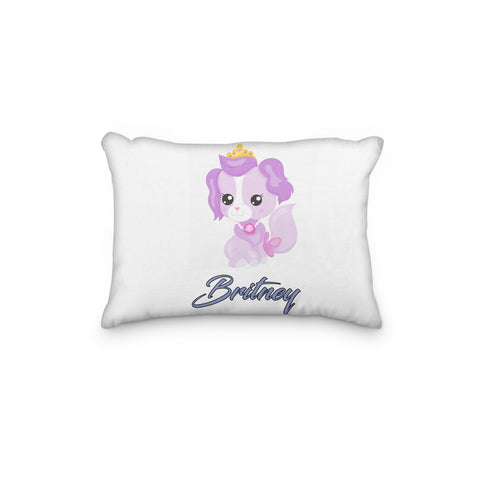 Dog Princess Purple Personalized Pillowcase - Incandescently