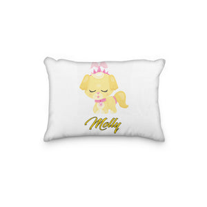 Dog Princess Yellow Personalized Pillowcase - Incandescently