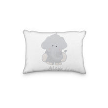 Load image into Gallery viewer, Elephant Gray Body Personalized Pillowcase - incandescently