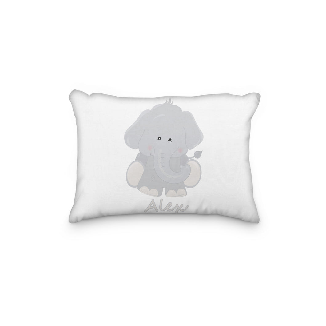 Elephant Gray Body Personalized Pillowcase - incandescently