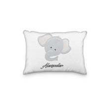 Load image into Gallery viewer, Elephant Gray Head Personalized Pillowcase - incandescently