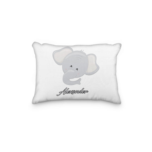 Elephant Gray Head Personalized Pillowcase - Incandescently