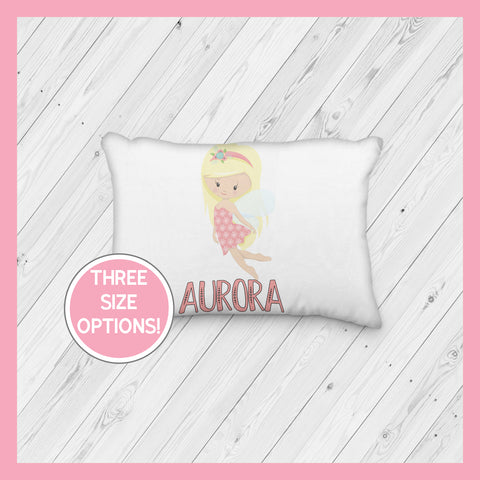 Fairy with Blonde Hair Personalized Pillowcase | Springtime | Magical | Mythical | Fairies - Incandescently