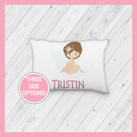 Fairy with Brown Hair Personalized Pillowcase | Springtime | Magical | Mythical | Fairies - Incandescently