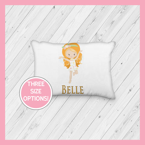 Fairy with Orange Hair Personalized Pillowcase  | Springtime | Magical | Mythical | Fairies - Incandescently