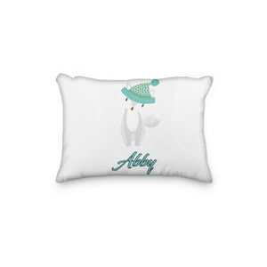 Fox Arctic Hat Personalized Pillowcase - Incandescently
