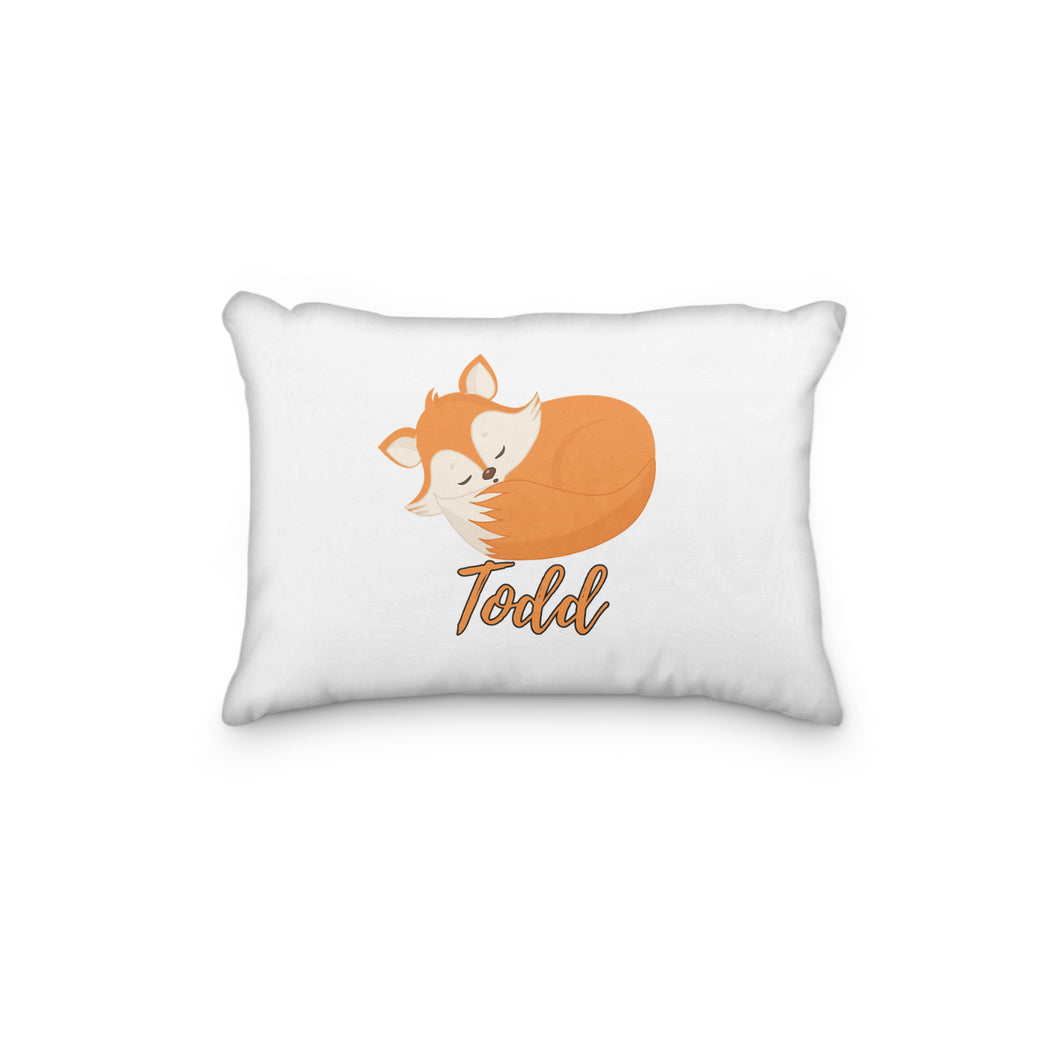 Fox Laying Down Personalized Pillowcase - incandescently