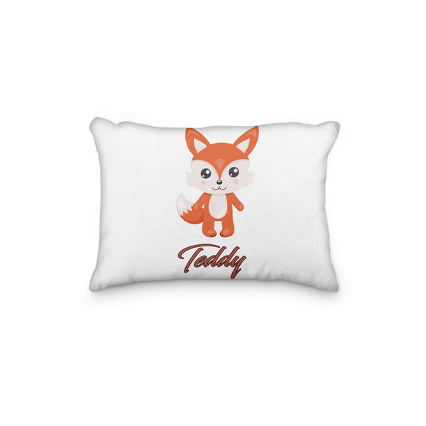 Fox Sitting Winter Hat Personalized Pillowcase - Incandescently - Glitter Sparkle Throw Pillows - Farmhouse Decor