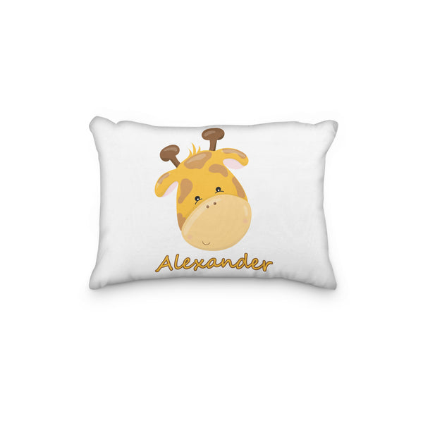 Giraffe Head Personalized Pillowcase - Incandescently