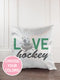 Hockey Glitter Sparkle Throw Pillow Cover - Incandescently - Glitter Sparkle Throw Pillows - Farmhouse Decor