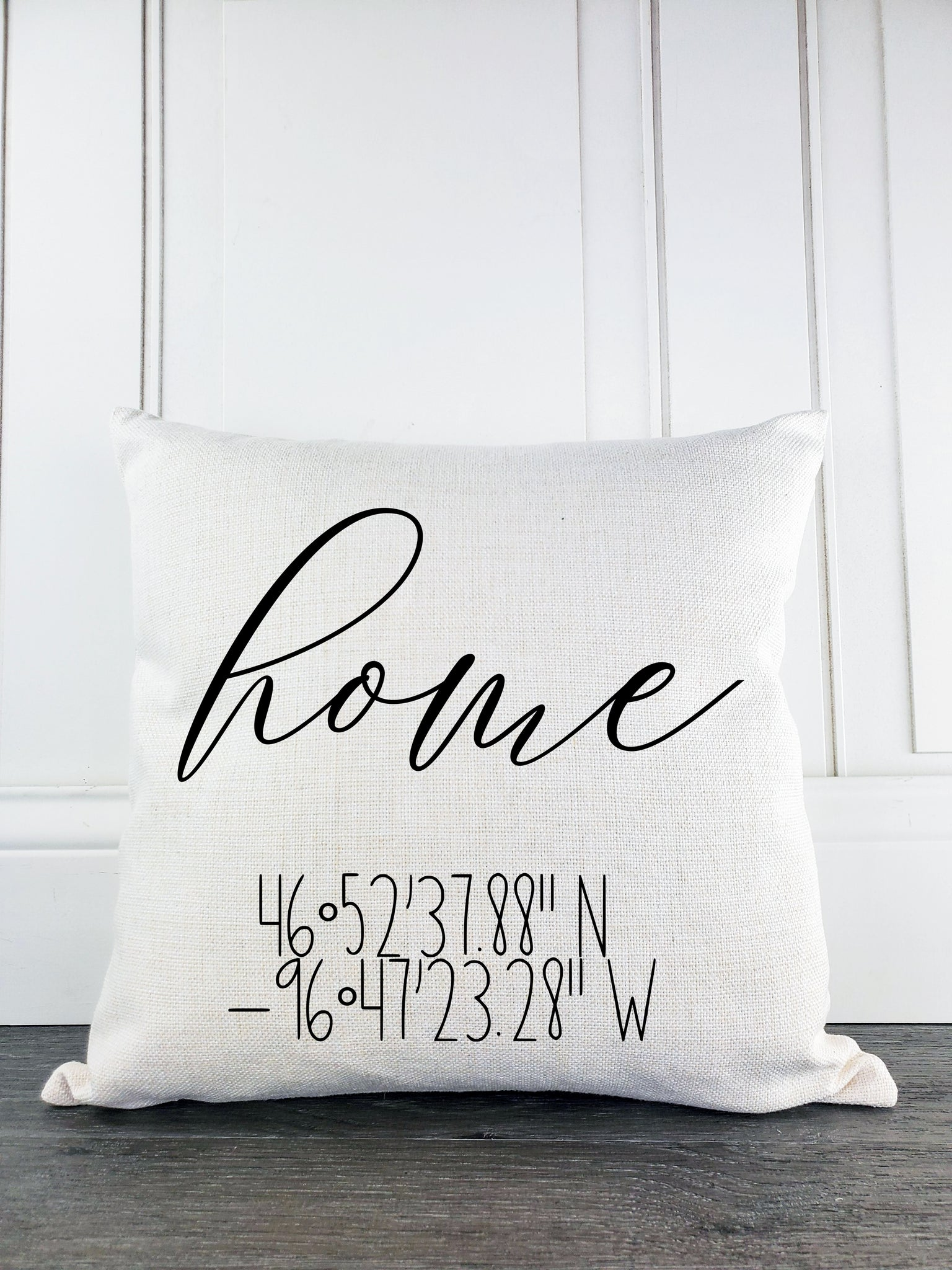 Home with Coordinates Rustic Farmhouse Throw Pillow - Incandescently