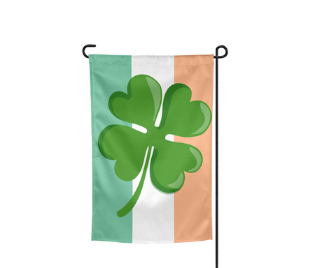 Irish Shamrock Clover Ireland Garden Flag