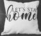 Let's Stay Home Farmhouse Throw Pillow