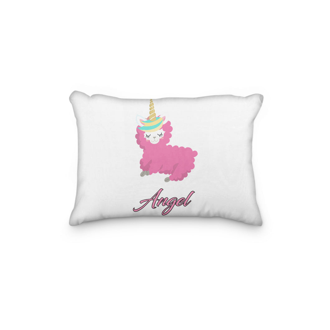 Llama Hot Pink Personalized Pillowcase - incandescently