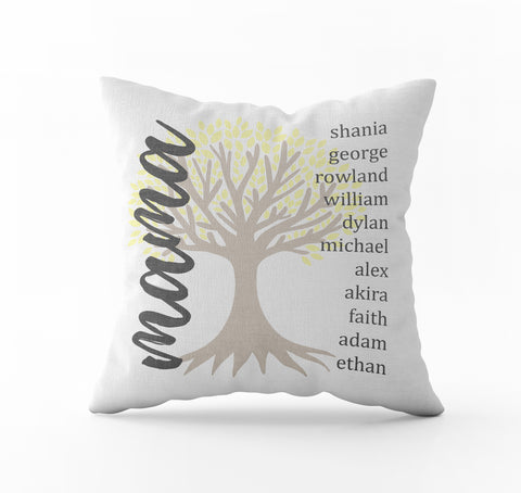 Mother's Day Throw Pillow - Tree - Incandescently