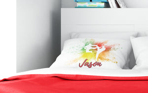 Martial Arts Teenage Youth Pillowcase Cloud Powder Burst - incandescently