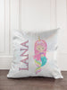 Mermaid with Horn Personalized Glitter Sparkle Pillow Cover