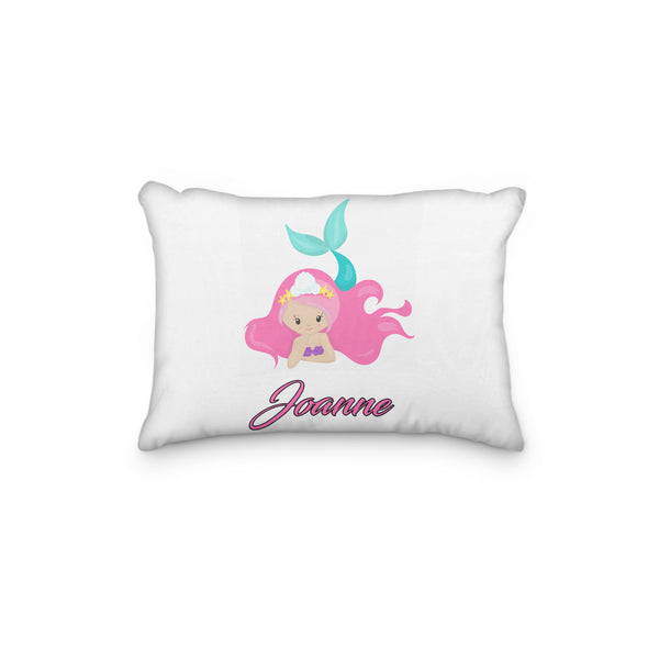 Mermaid Pink Personalized Pillowcase - Incandescently