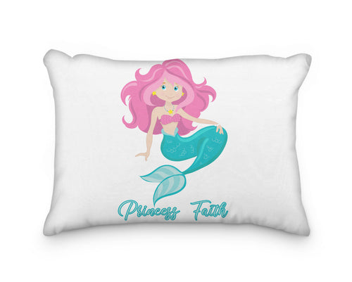 Mermaid Pink Hair Personalized Pillowcase - incandescently
