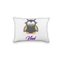 Load image into Gallery viewer, Owl Vampire with Cape Personalized Pillowcase - incandescently