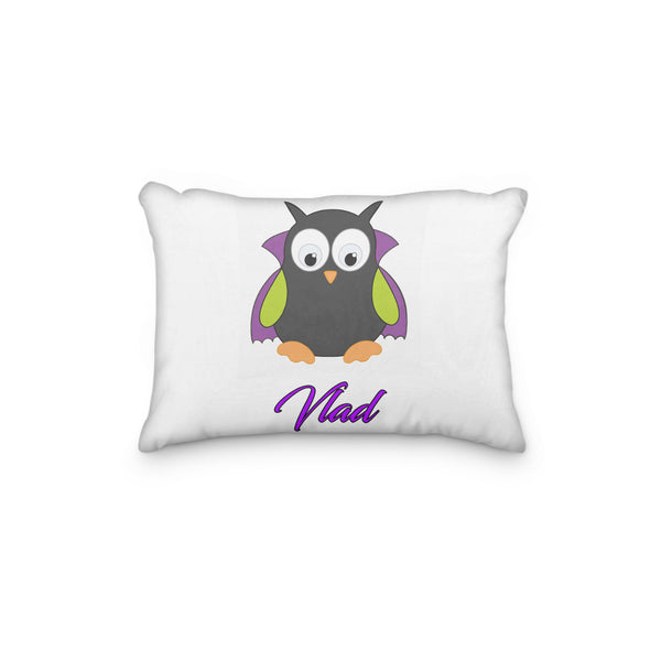Owl Vampire with Cape Personalized Pillowcase - Incandescently