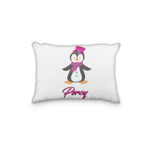 Load image into Gallery viewer, Penguin with Top Hat Personalized Pillowcase - incandescently