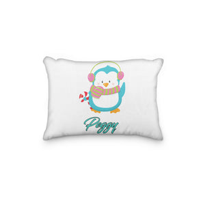Penguin Christmas with Scarf Personalized Pillowcase - Incandescently