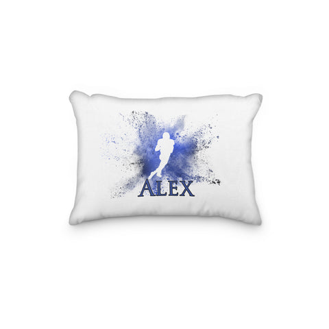 Football American Teenage Youth Pillowcase Cloud Powder Burst - Incandescently - Glitter Sparkle Throw Pillows - Farmhouse Decor