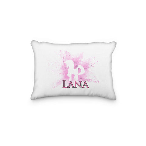 Unicorn Silhouette with Powder Burst Personalized Pillowcase - Incandescently