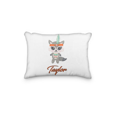 Raccoon Tribal Personalized Pillowcase - Incandescently