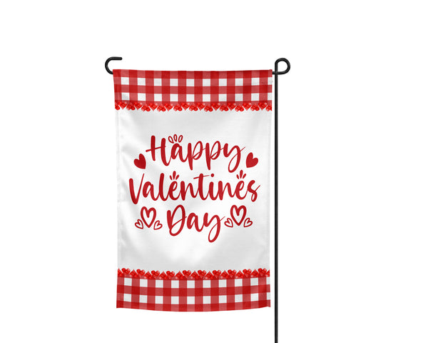 Happy Valentine's Day Plaid Garden Flag - Incandescently - Glitter Sparkle Throw Pillows - Farmhouse Decor