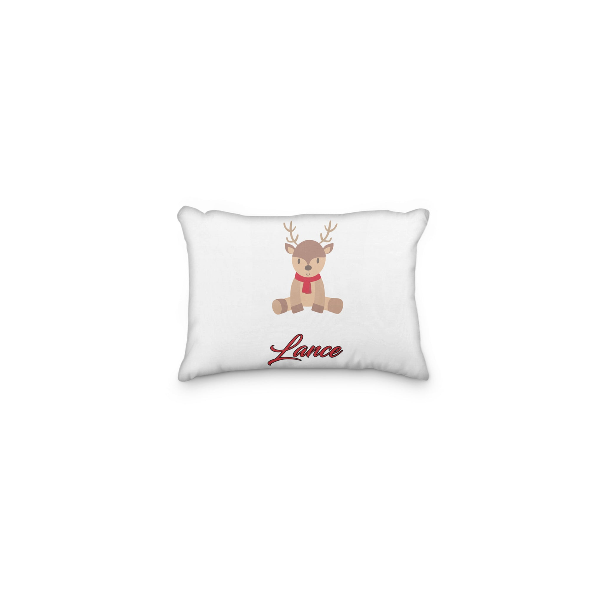Reindeer Sitting Scarf Christmas Personalized Pillowcase - Incandescently