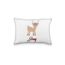 Load image into Gallery viewer, Reindeer Standing Personalized Pillowcase - incandescently
