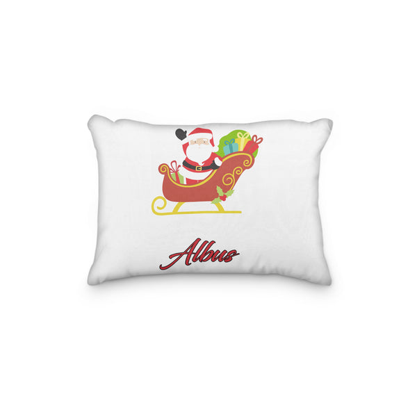 Santa with Sleigh Christmas Personalized Pillowcase - Incandescently