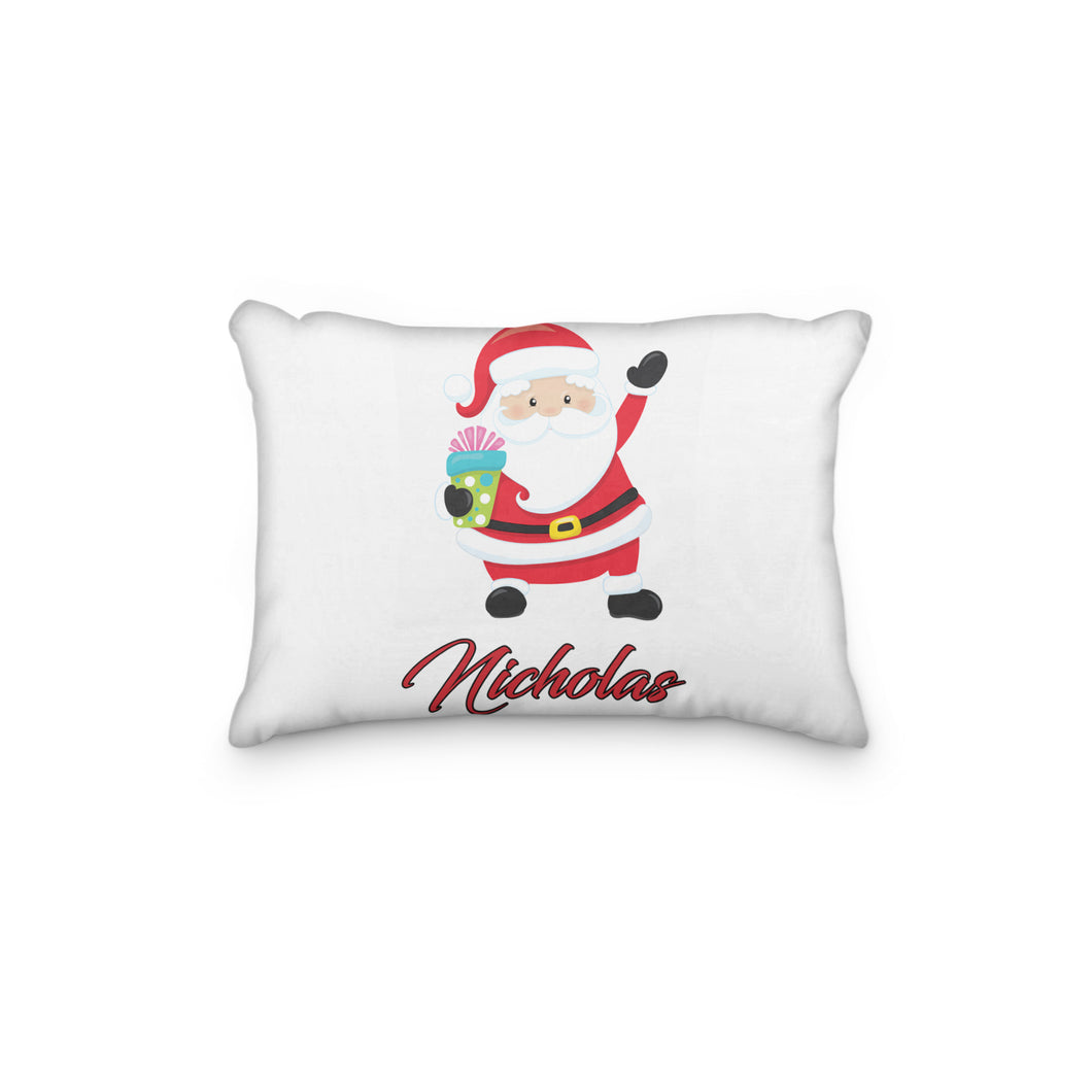 Santa Christmas Version 2 Personalized Pillowcase - incandescently