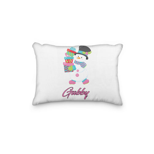 Snowman Christmas Personalized Pillowcase - incandescently