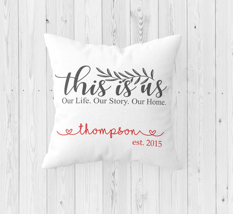 This is Us Personalized Throw Pillow - Incandescently
