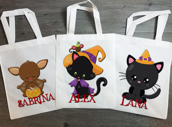 Halloween Trick or Treat Bag Personalized - Incandescently