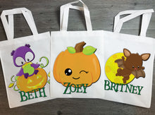 Load image into Gallery viewer, Halloween Trick or Treat Bag Personalized - incandescently