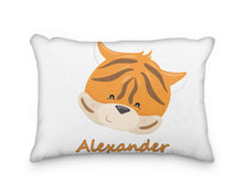 Load image into Gallery viewer, Tiger Head Personalized Pillowcase - incandescently